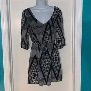 BeBop tribal print long sleeve dress size small